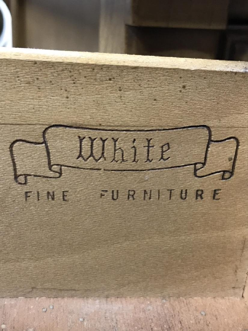 Pair WHITE FURNITURE CO. Wooden End Tables - 9