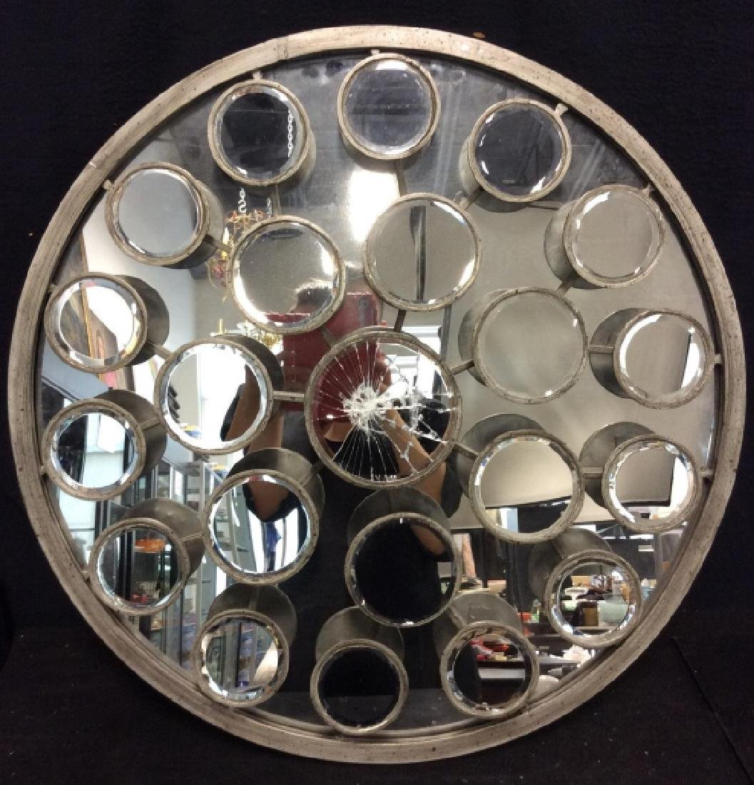 TOZAI Unique Round Metal Mirror