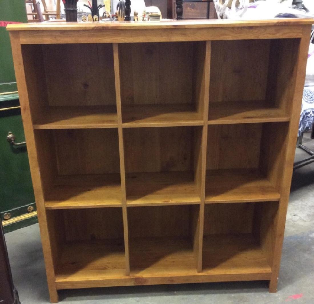 9 Space Cubby Style Wooden Bookshelf