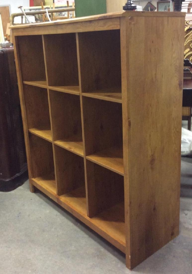 9 Space Cubby Style Wooden Bookshelf - 2