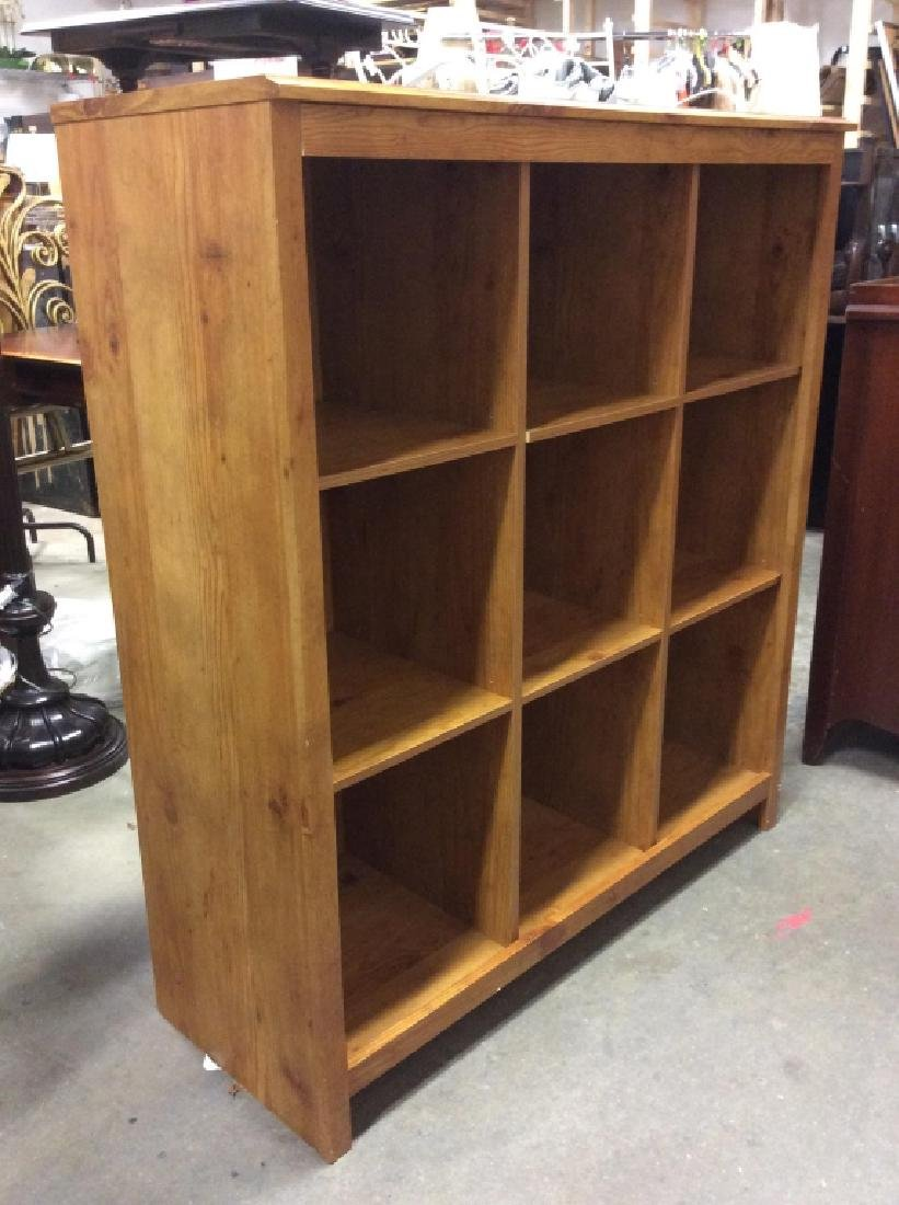 9 Space Cubby Style Wooden Bookshelf - 3