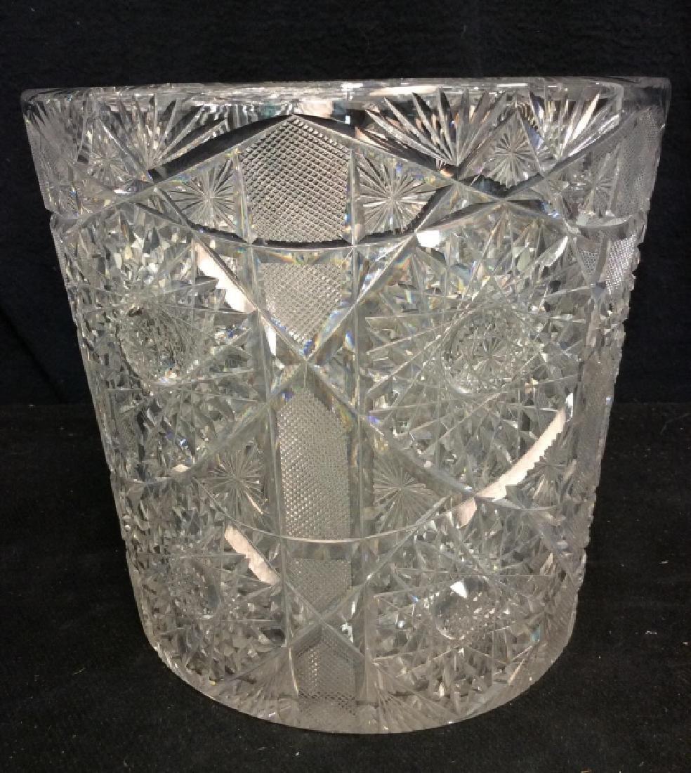 Brilliant Cut Crystal Ice Bucket