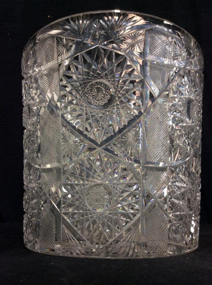 Brilliant Cut Crystal Ice Bucket - 6