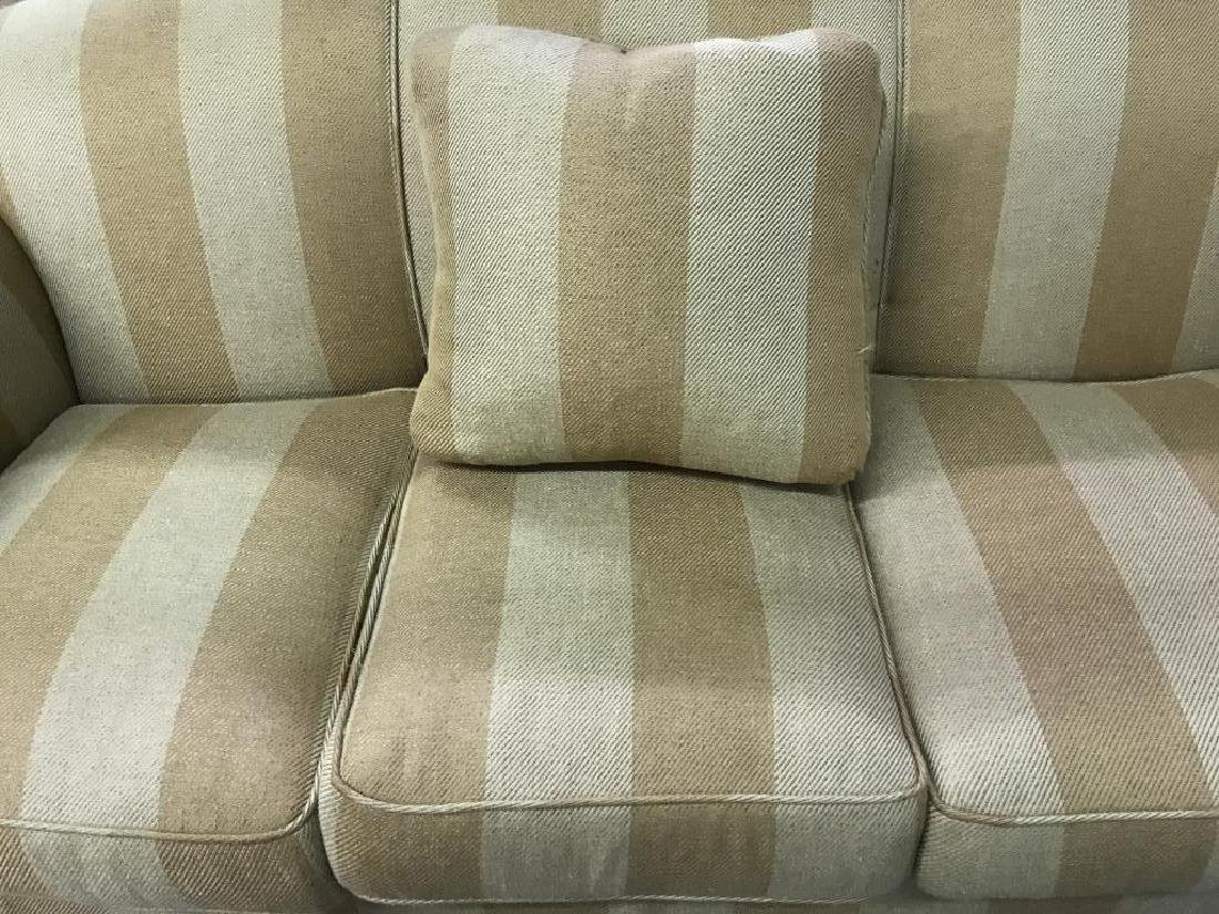 Striped Upholstered Plump Couch Sofa - 4