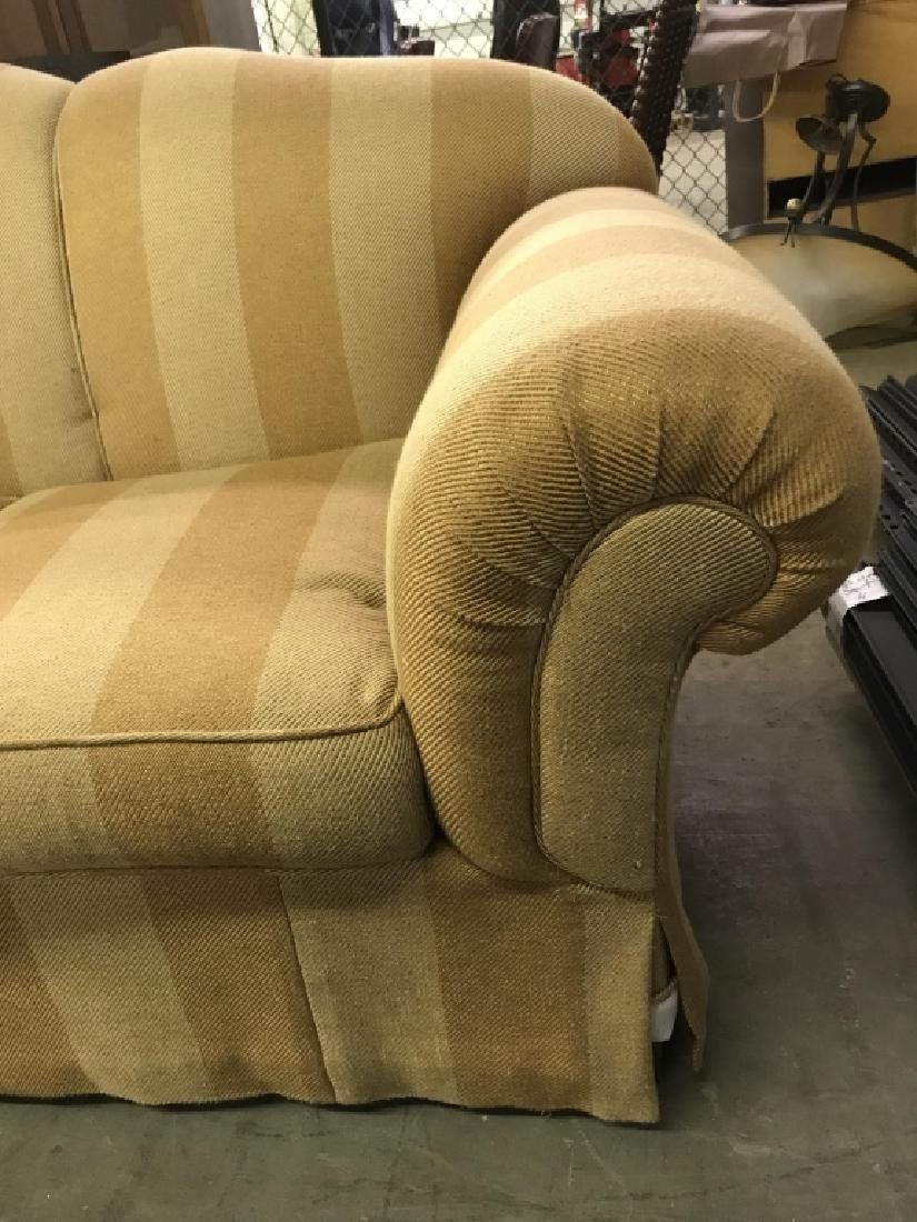 Striped Upholstered Plump Couch Sofa - 9