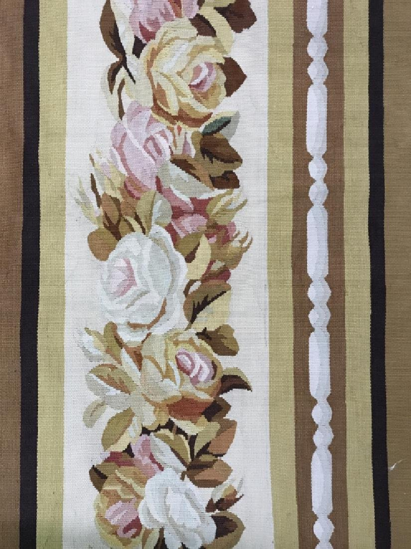 French Aubusson Hand Woven Carpet Room Size Rug - 4
