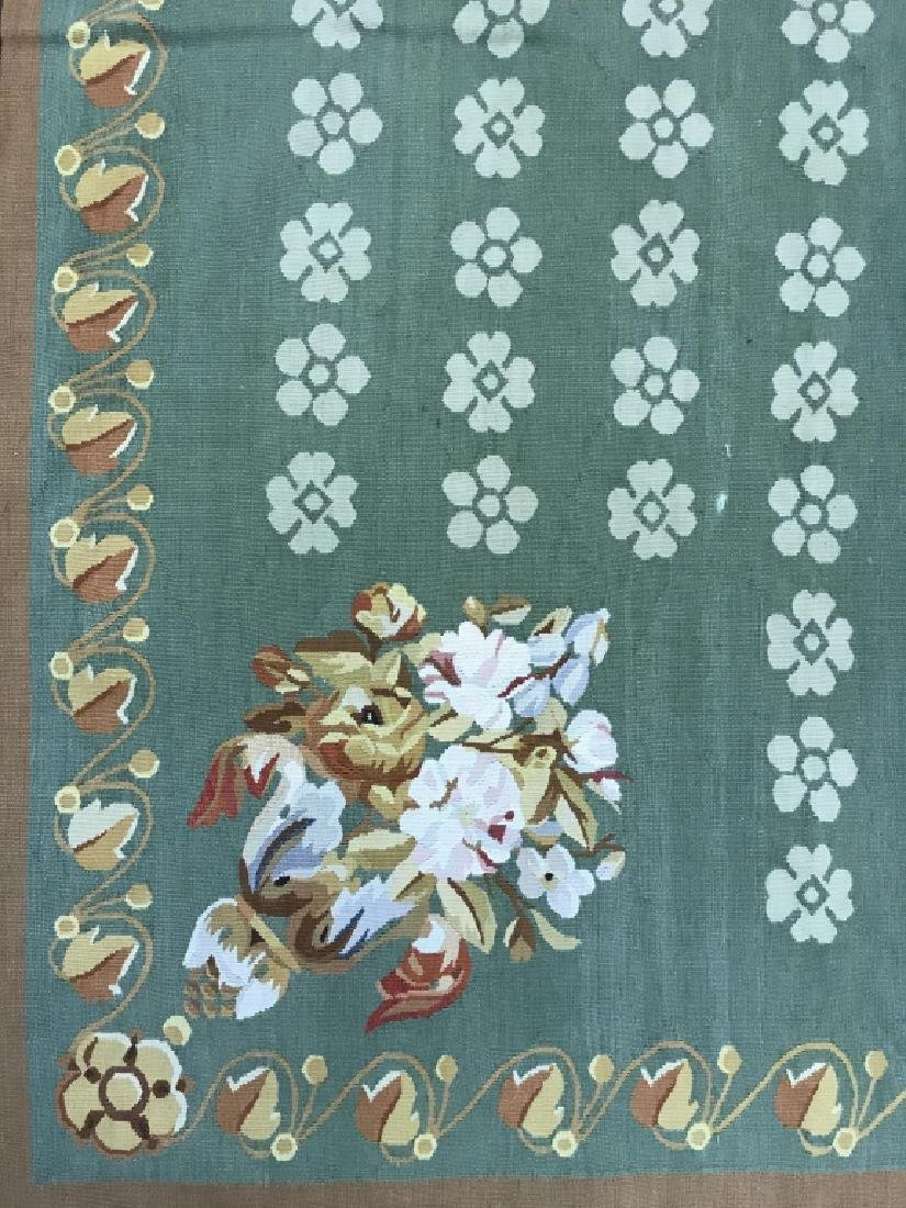 French Aubusson Hand Woven Carpet Room Size Rug - 5