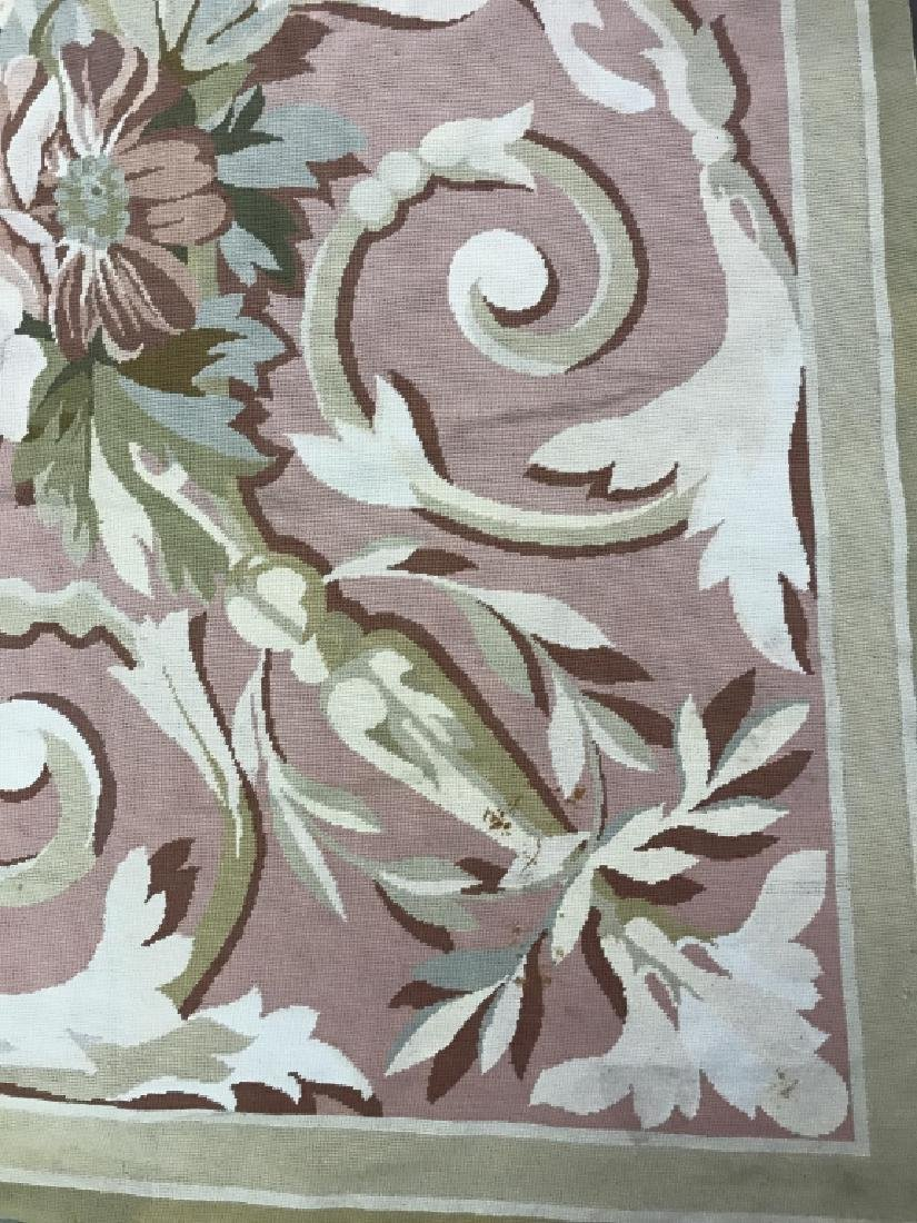 Room Sized Hand Woven French Aubusson Carpet. - 4