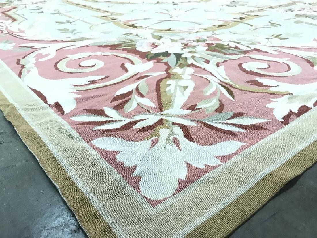 Room Sized Hand Woven French Aubusson Carpet. - 5