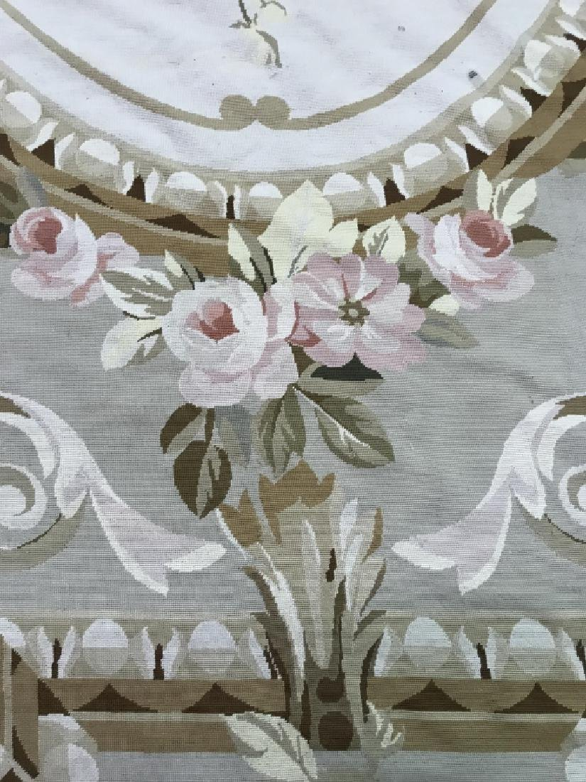 Room Sized Hand Woven French Aubusson Carpet. - 9