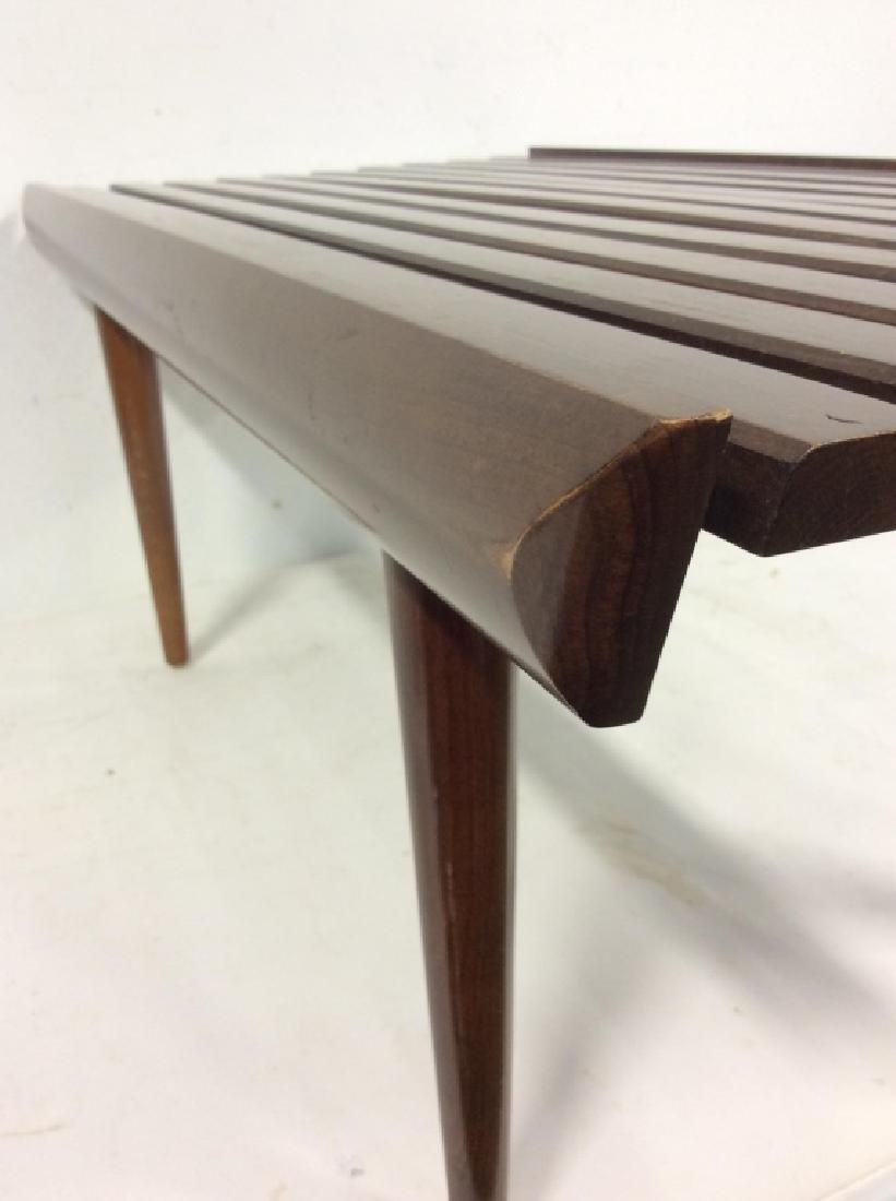 Vintage Mid Century Modern Slat Bench - 5