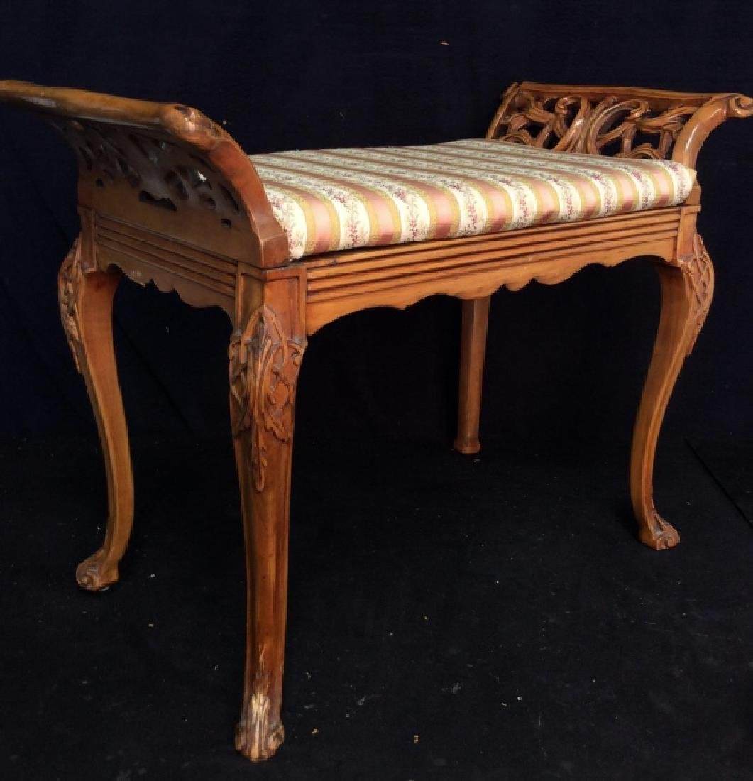 Vintage Carved Wooden Stool,Bench,Footrest - 2