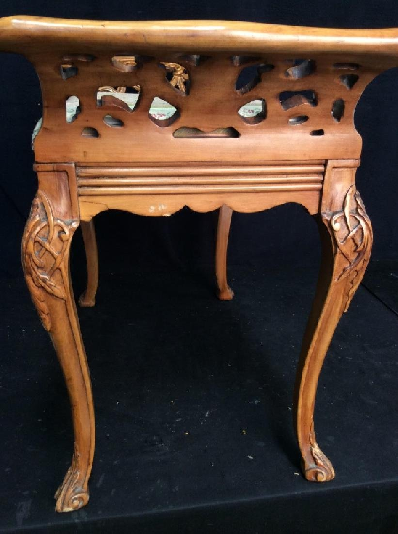 Vintage Carved Wooden Stool,Bench,Footrest - 4