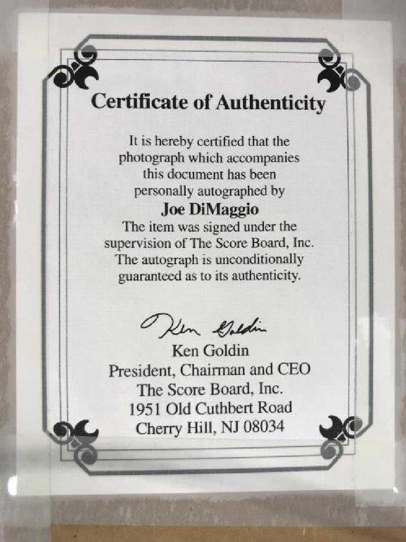 Authenticated Signed JOE DIMAGGIO Photograph - 9