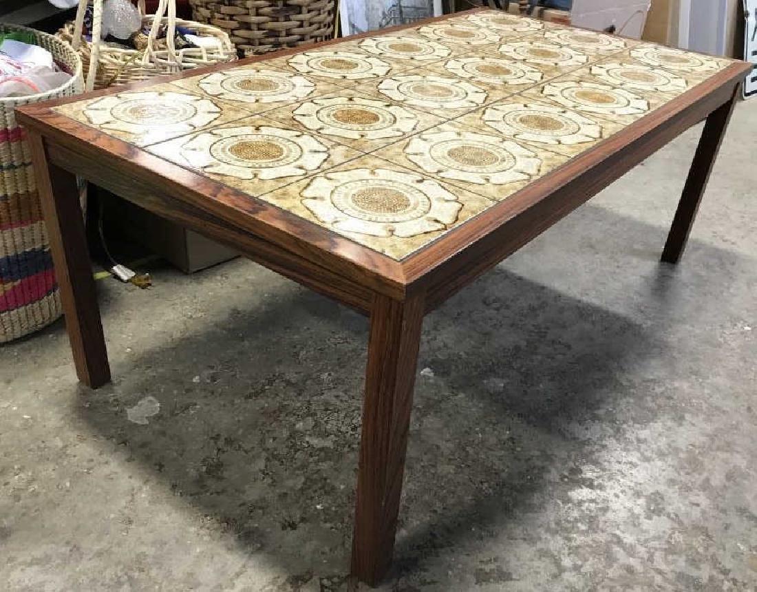 1960's Danish Modern Tile Rosewood Table