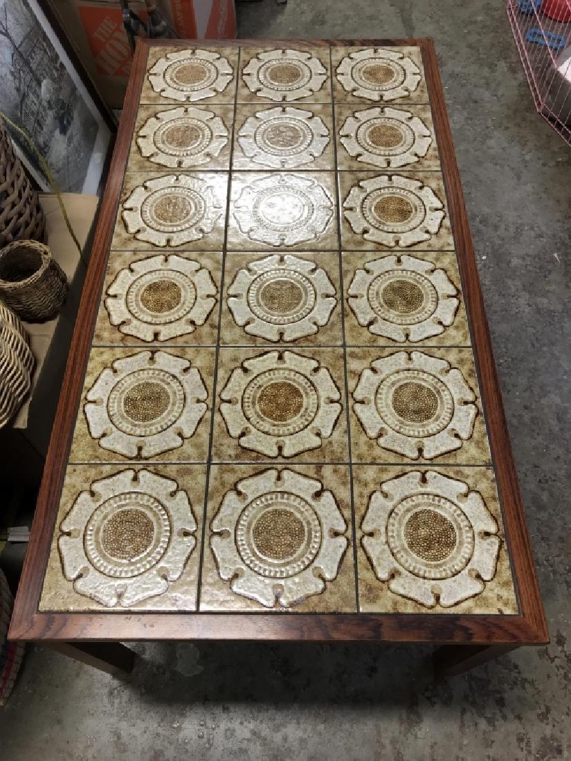 1960's Danish Modern Tile Rosewood Table - 2