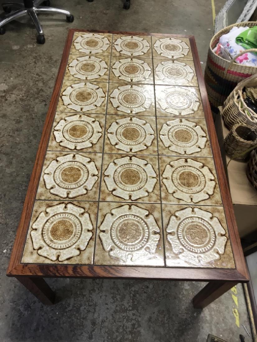 1960's Danish Modern Tile Rosewood Table - 5