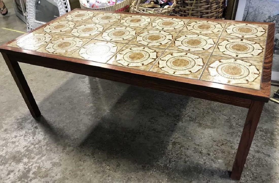 1960's Danish Modern Tile Rosewood Table - 7