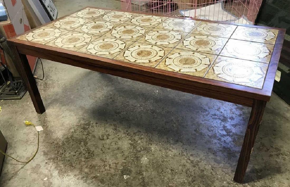 1960's Danish Modern Tile Rosewood Table - 9