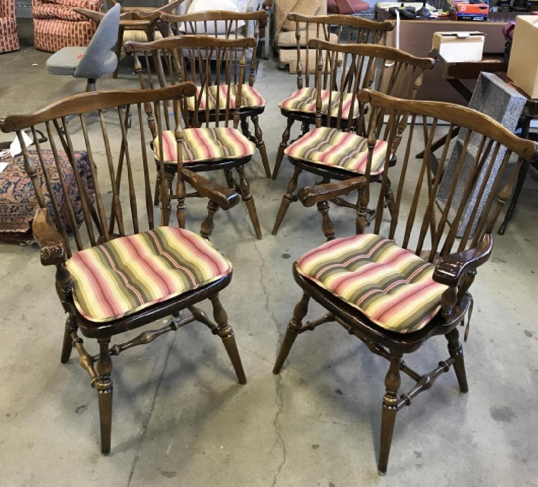 Lot 6 Windsor Style Spindle Back Chairs