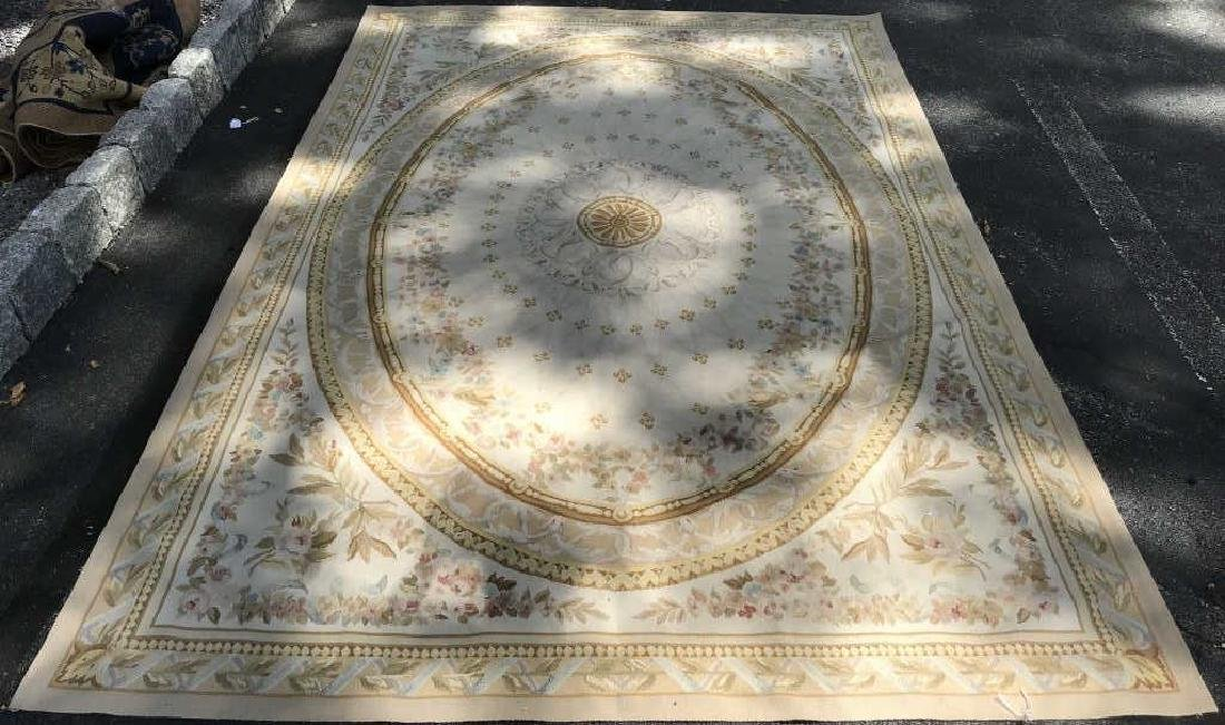 Antique French Handmade AUBUSSON Rug - 2