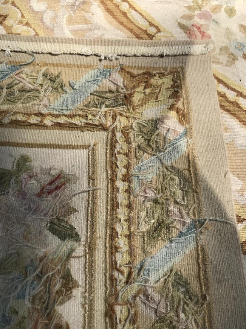 Antique French Handmade AUBUSSON Rug - 4