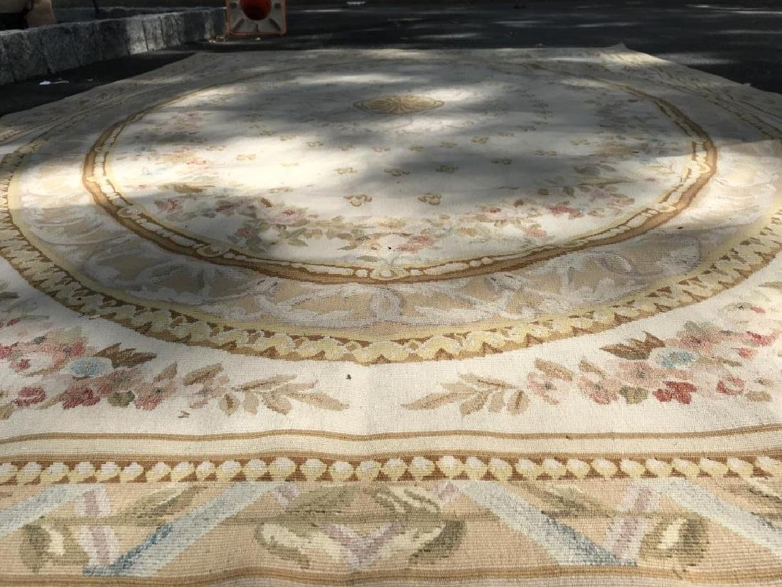 Antique French Handmade AUBUSSON Rug - 7