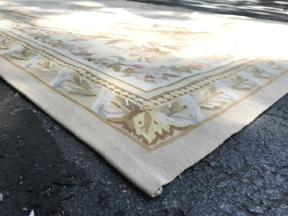 Antique French Handmade AUBUSSON Rug - 8