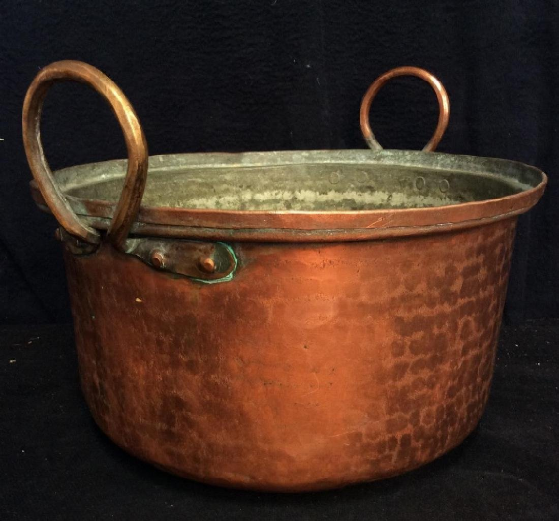 Vintage/Antique Hammered Copper Pot