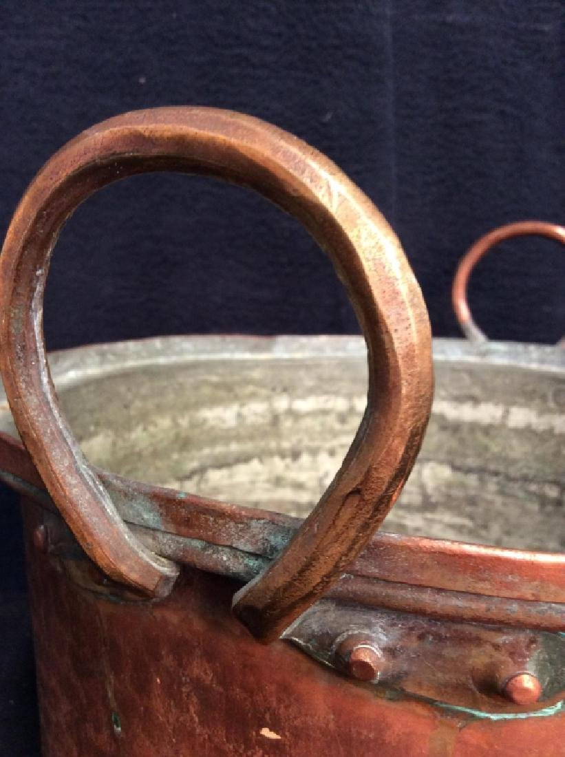 Vintage/Antique Hammered Copper Pot - 2