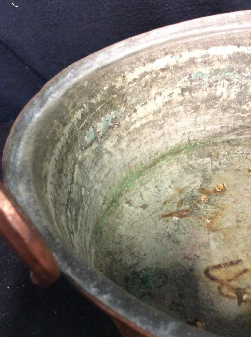 Vintage/Antique Hammered Copper Pot - 3