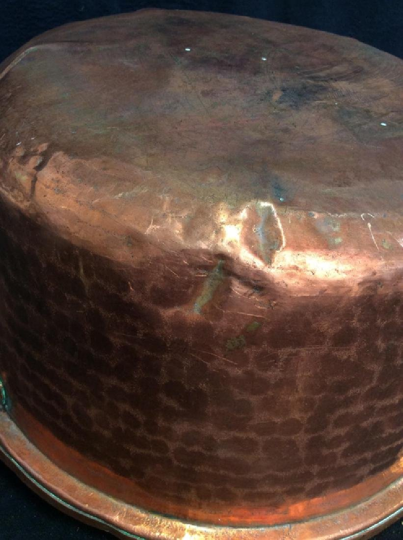 Vintage/Antique Hammered Copper Pot - 5