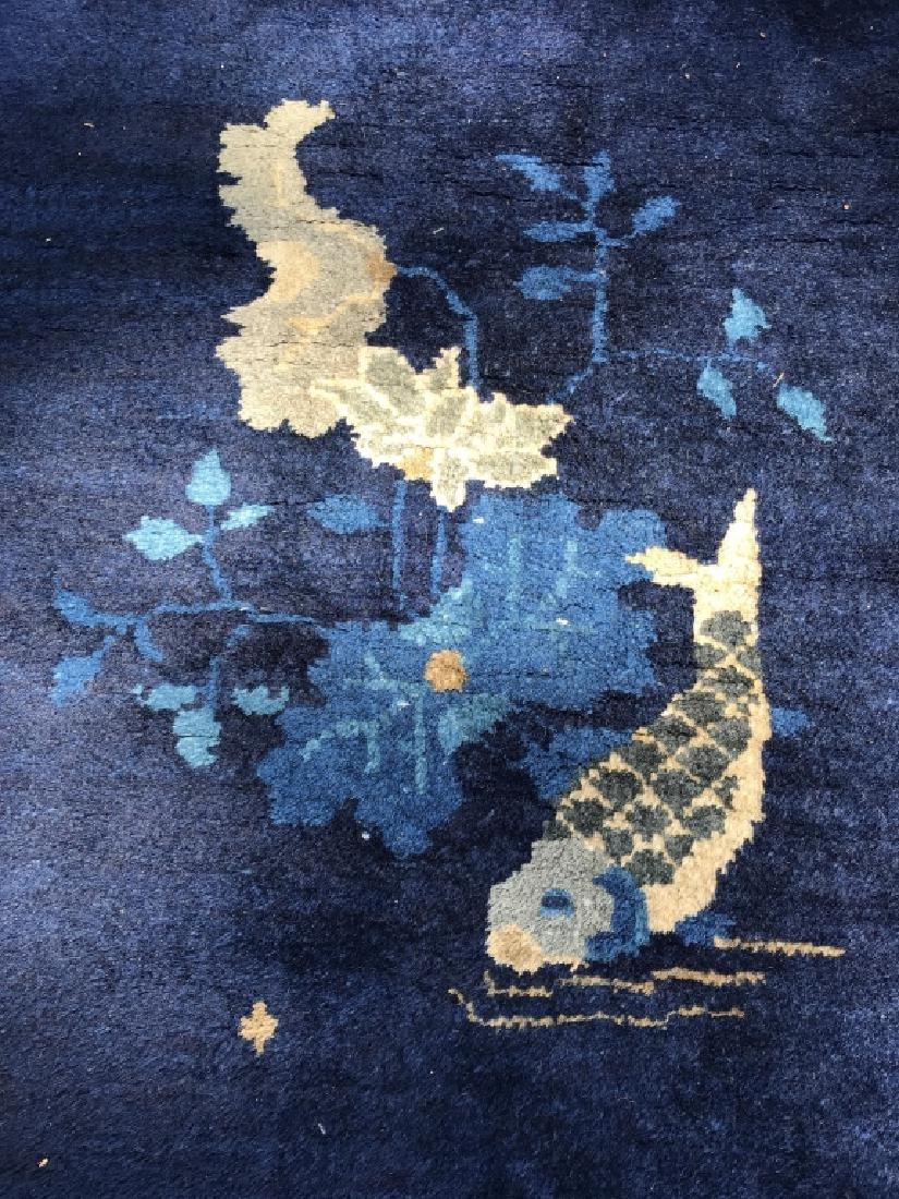 Handmade Chinese Art Deco Wool Rug - 5