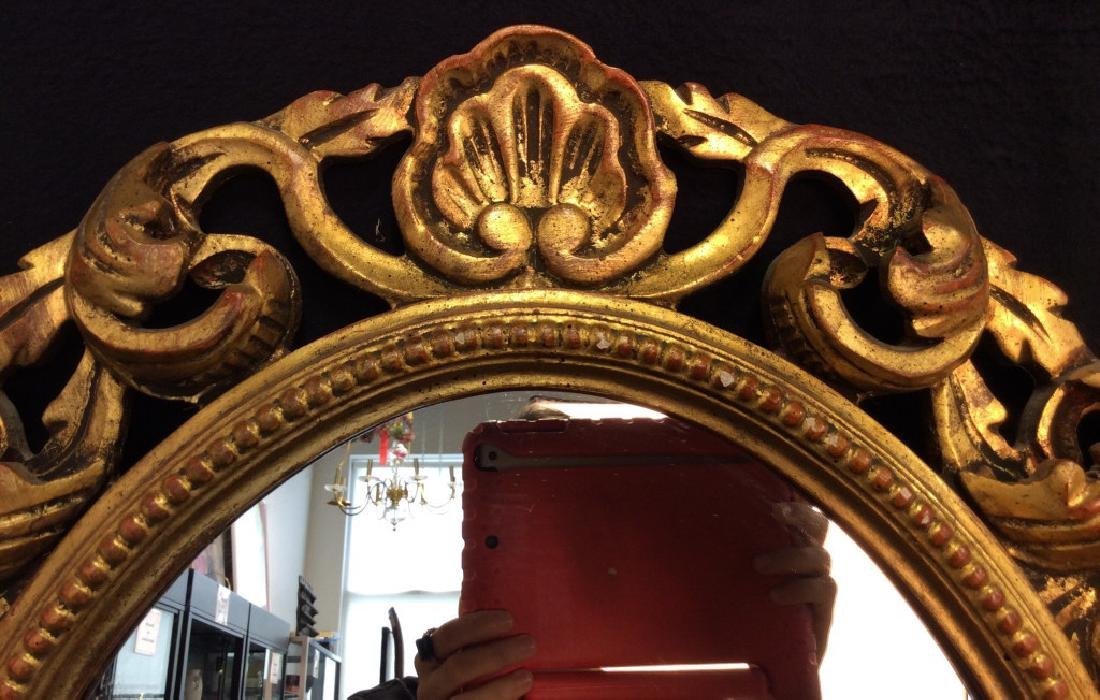 Carved Style Wooden Filigree Mirror
