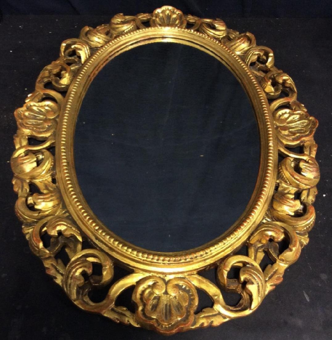 Carved Style Wooden Filigree Mirror - 3