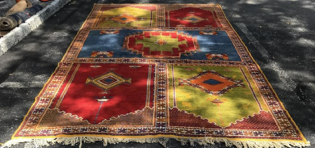 Handmade Vintage COURANTE Moroccan Wool Rug