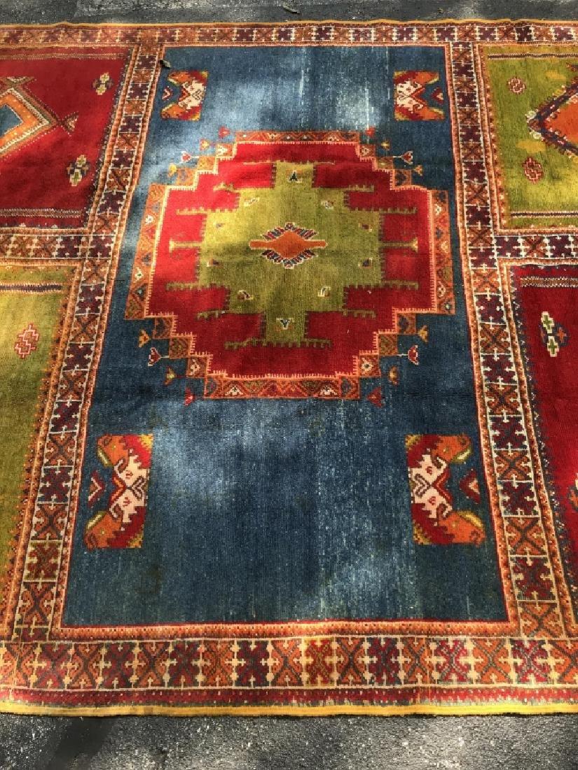 Handmade Vintage COURANTE Moroccan Wool Rug - 2
