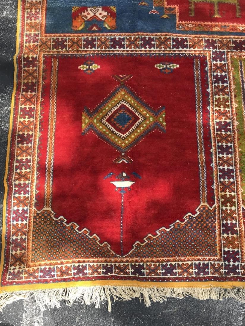 Handmade Vintage COURANTE Moroccan Wool Rug - 3