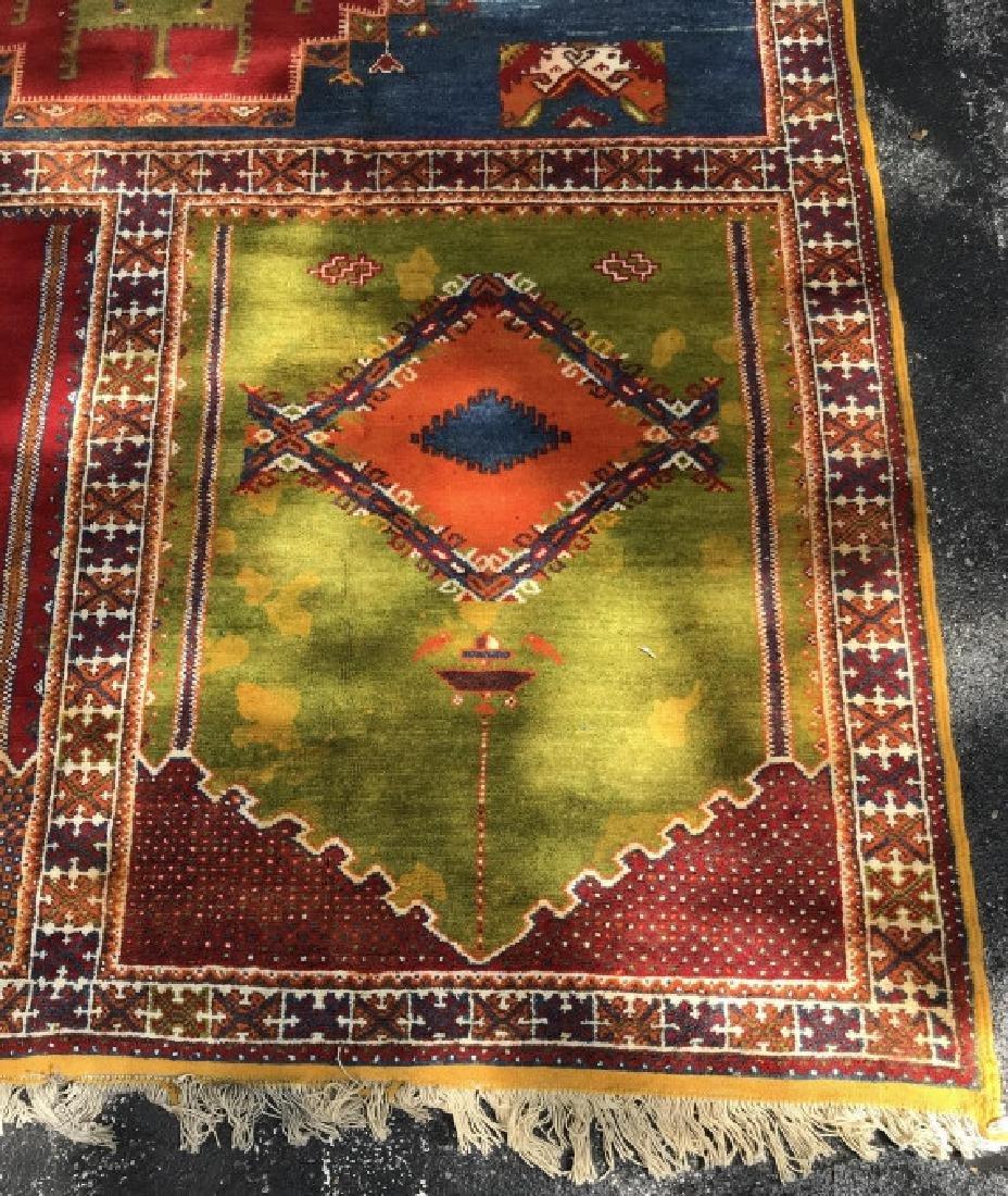 Handmade Vintage COURANTE Moroccan Wool Rug - 4