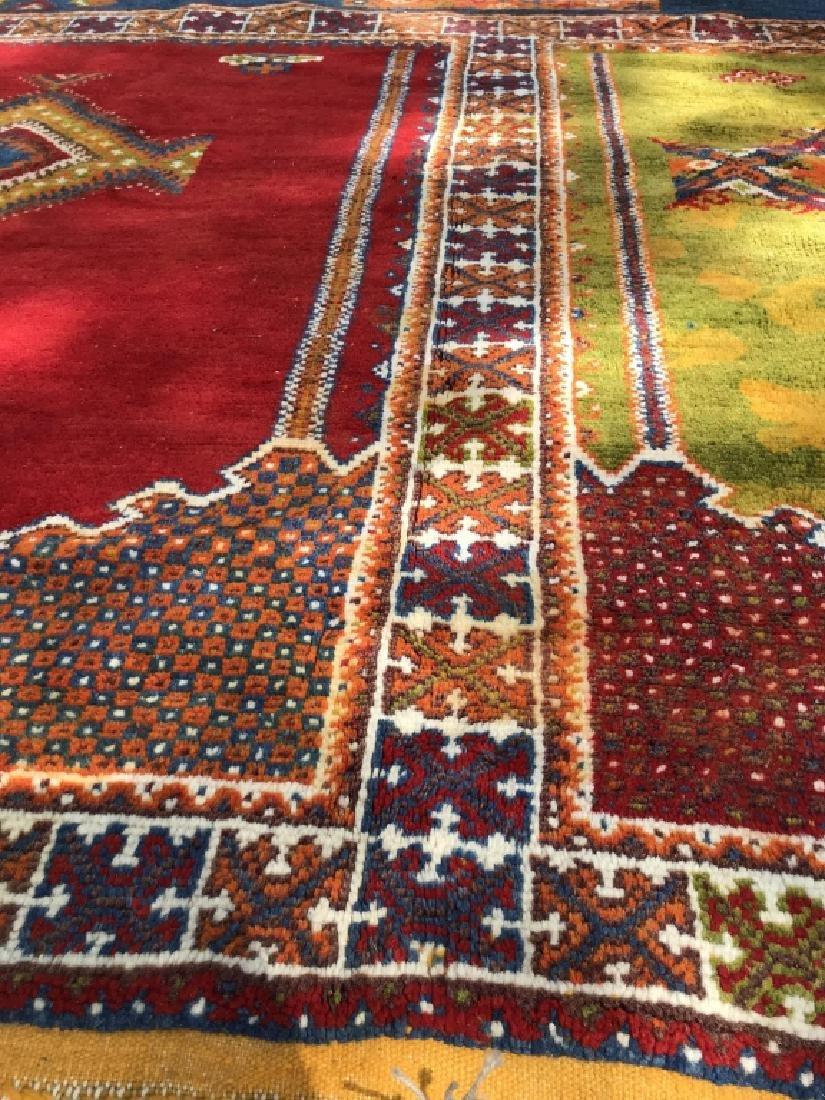 Handmade Vintage COURANTE Moroccan Wool Rug - 6