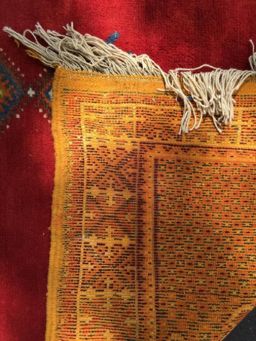Handmade Vintage COURANTE Moroccan Wool Rug - 7