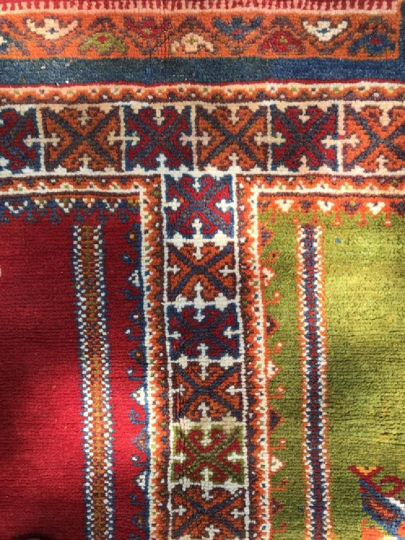 Handmade Vintage COURANTE Moroccan Wool Rug - 9