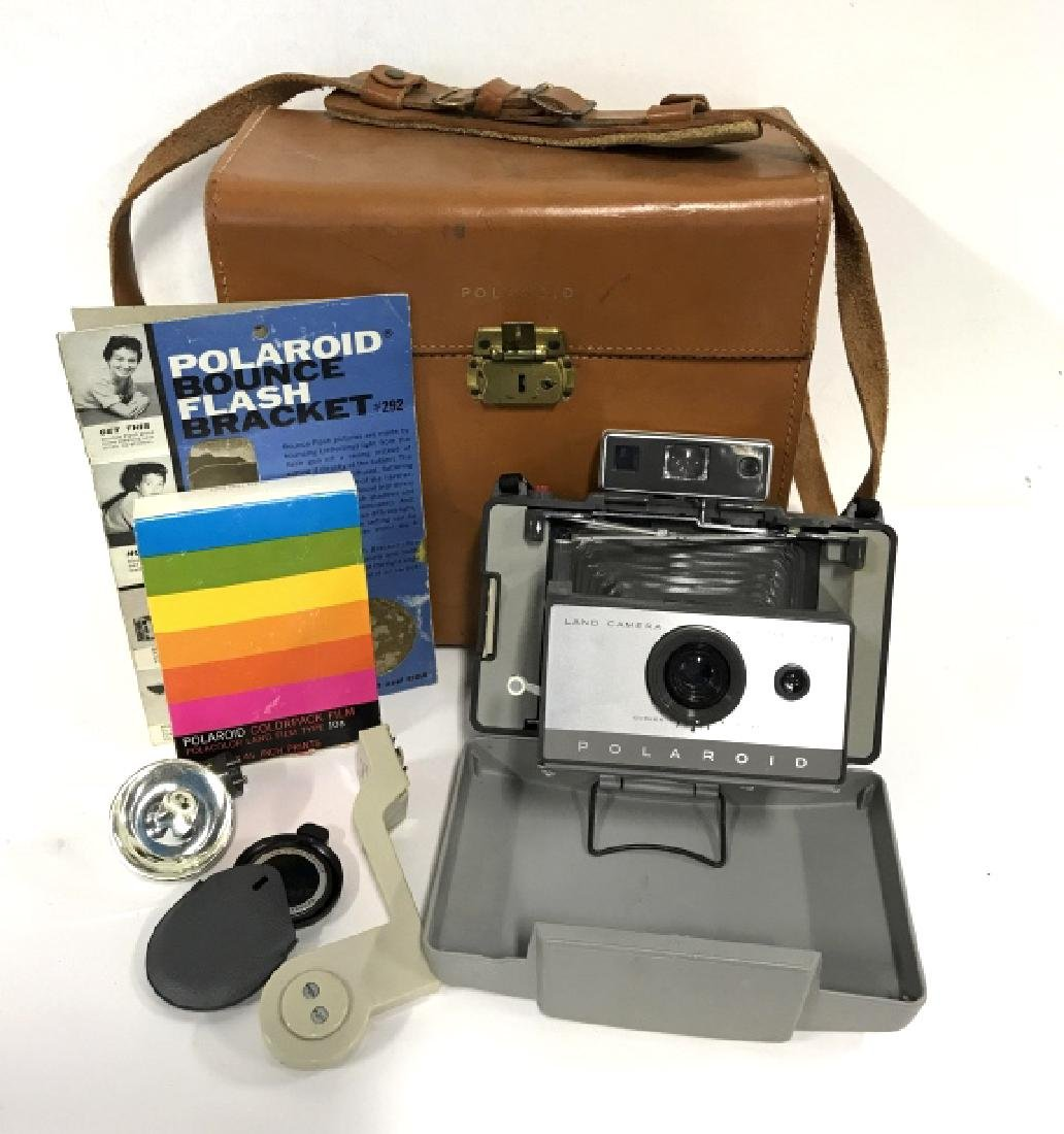 Vintage Polaroid 103 Land Camera And Accessories