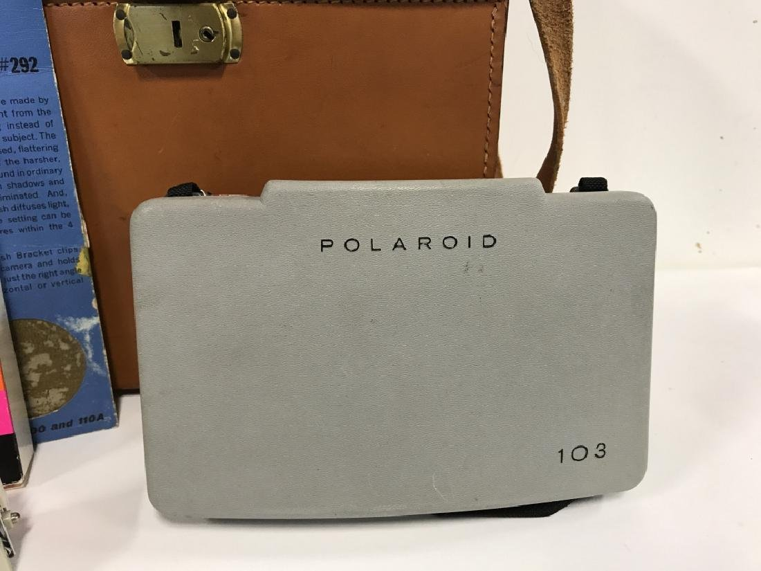 Vintage Polaroid 103 Land Camera And Accessories - 3