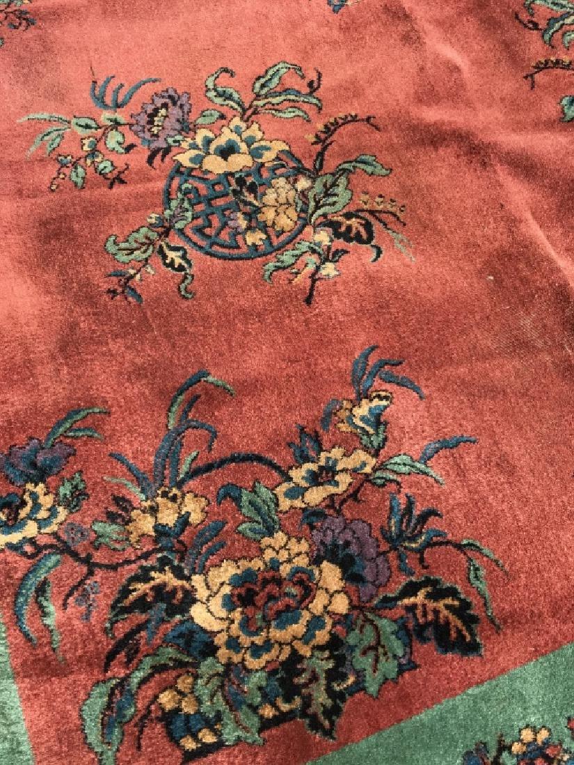 Vintage Handmade Chinese Art Deco Wool Rug - 10