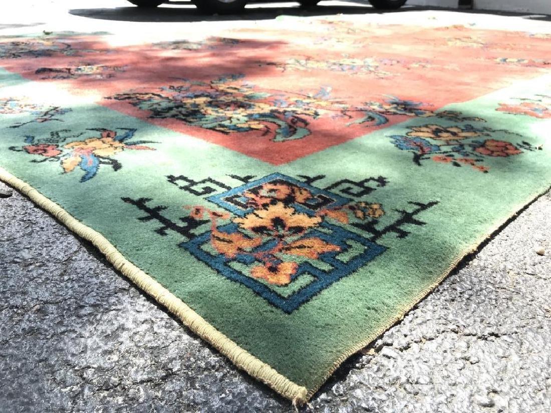 Vintage Handmade Chinese Art Deco Wool Rug - 6