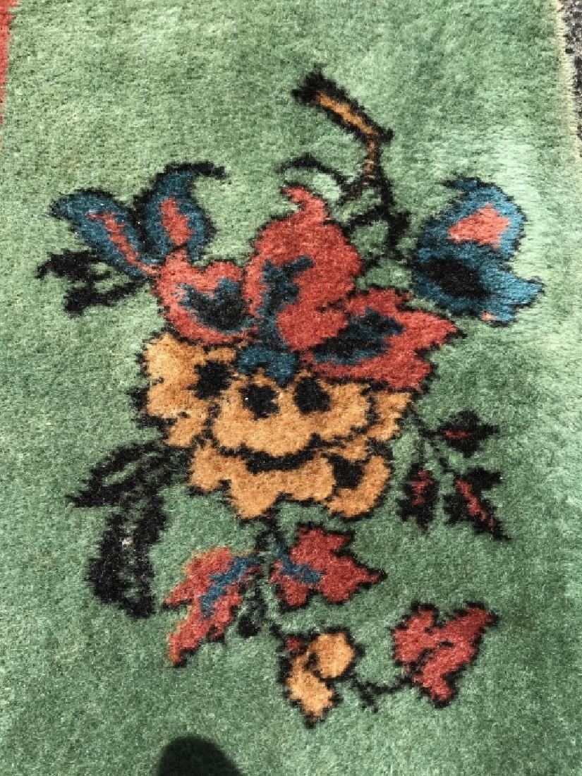 Vintage Handmade Chinese Art Deco Wool Rug - 7