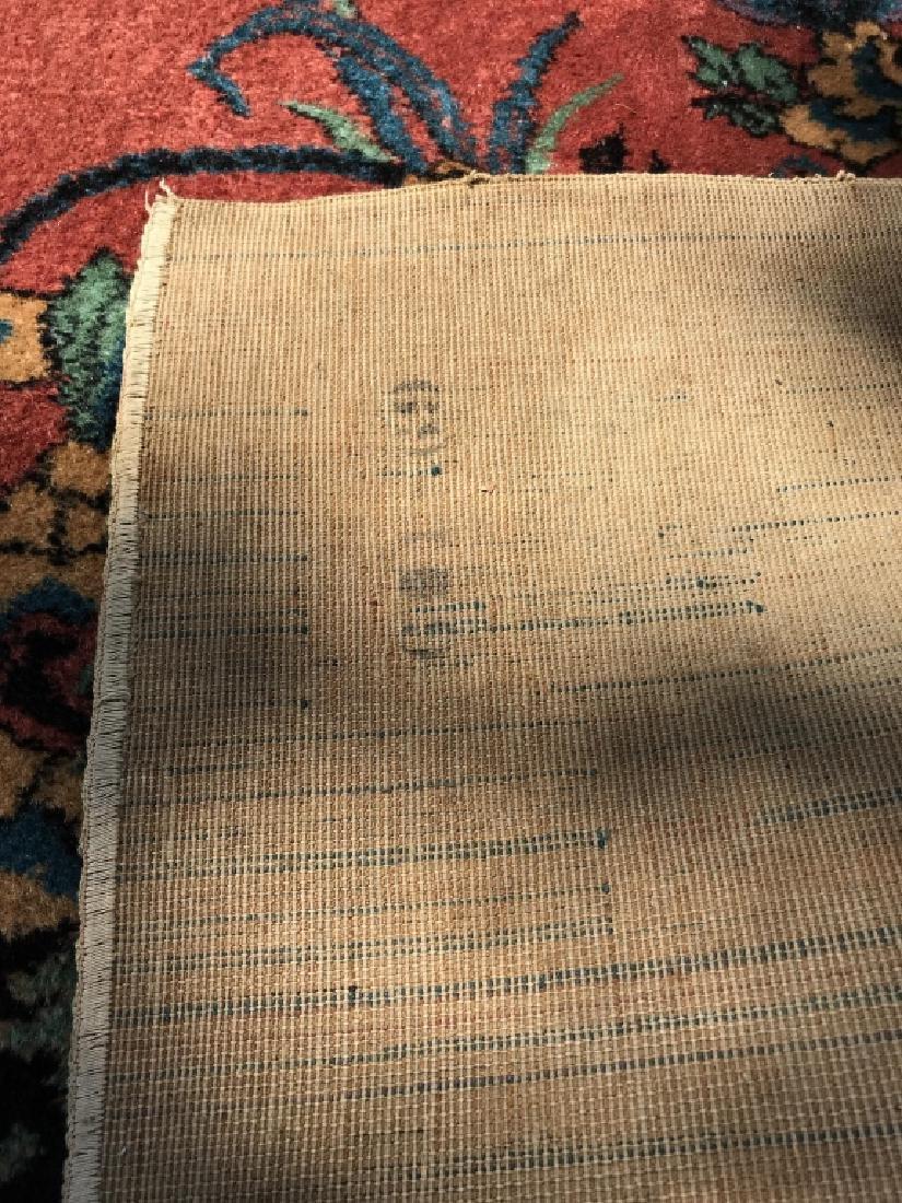 Vintage Handmade Chinese Art Deco Wool Rug - 8