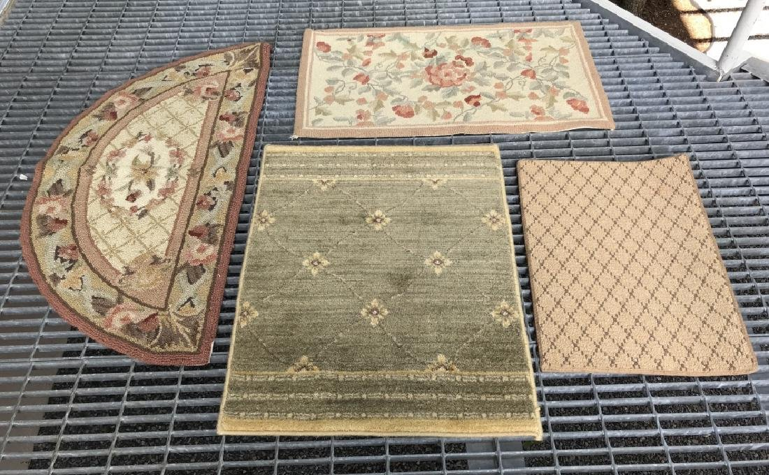 Lot 4 Assorted Wool Rugs