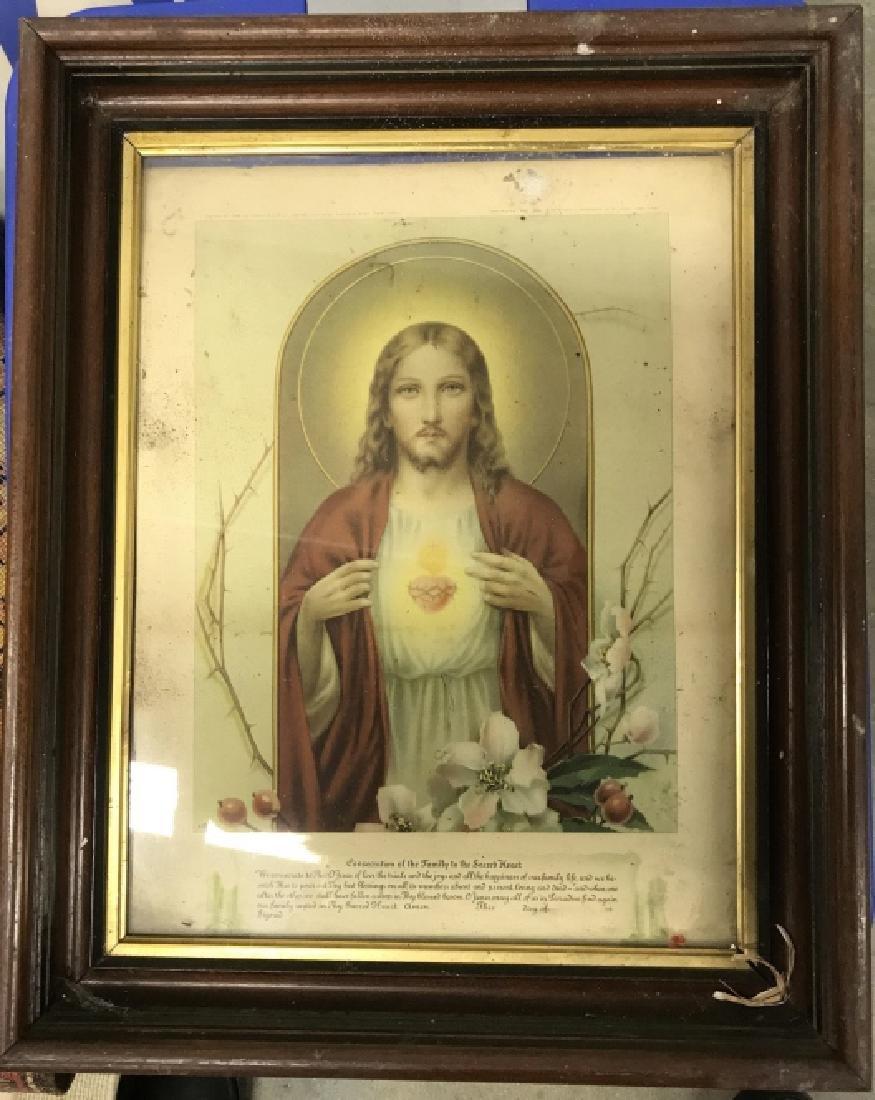 Vintage Framed Jesus Christ Art Print